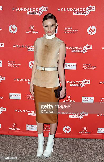 Actress Kate Bosworth attends the 'ACOD' Premiere during the 2013 Sundance Film Festival at Eccles Center Theatre on January 23 2013 in Park City Utah