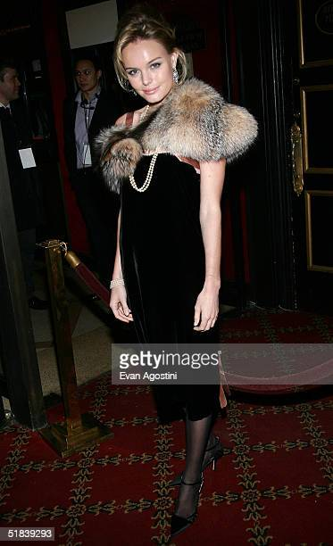 """Actress Kate Bosworth attends the """"Beyond The Sea"""" premiere at the Ziegfeld Theatre December 8, 2004 in New York City."""