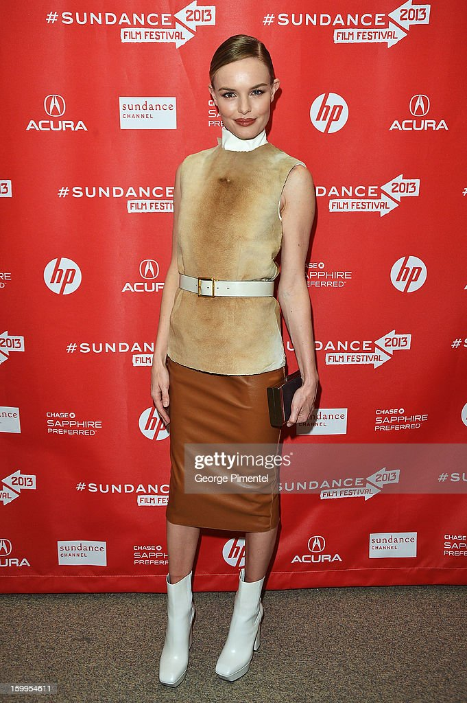 Actress Kate Bosworth attends the 'Big Sur' Premiere during the 2013 Sundance Film Festival at Eccles Center Theatre on January 23, 2013 in Park City, Utah.