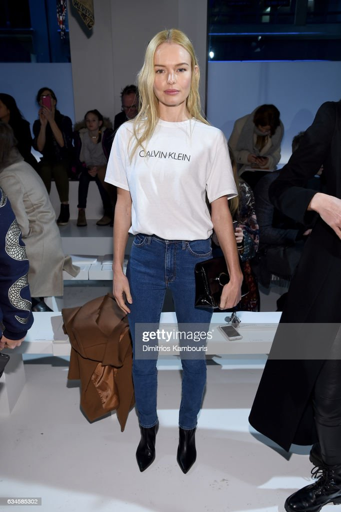 Actress Kate Bosworth attends the Calvin Klein Collection Front Row during New York Fashion Week on February 10, 2017 in New York City.
