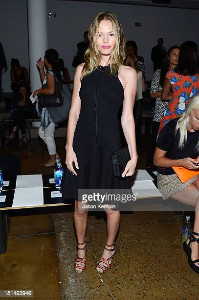Actress Kate Bosworth attends the Cushnie et Ochs Spring 2013 Fashion Show during MercedesBenz Fashion Week at Milk Studios on September 7 2012 in...