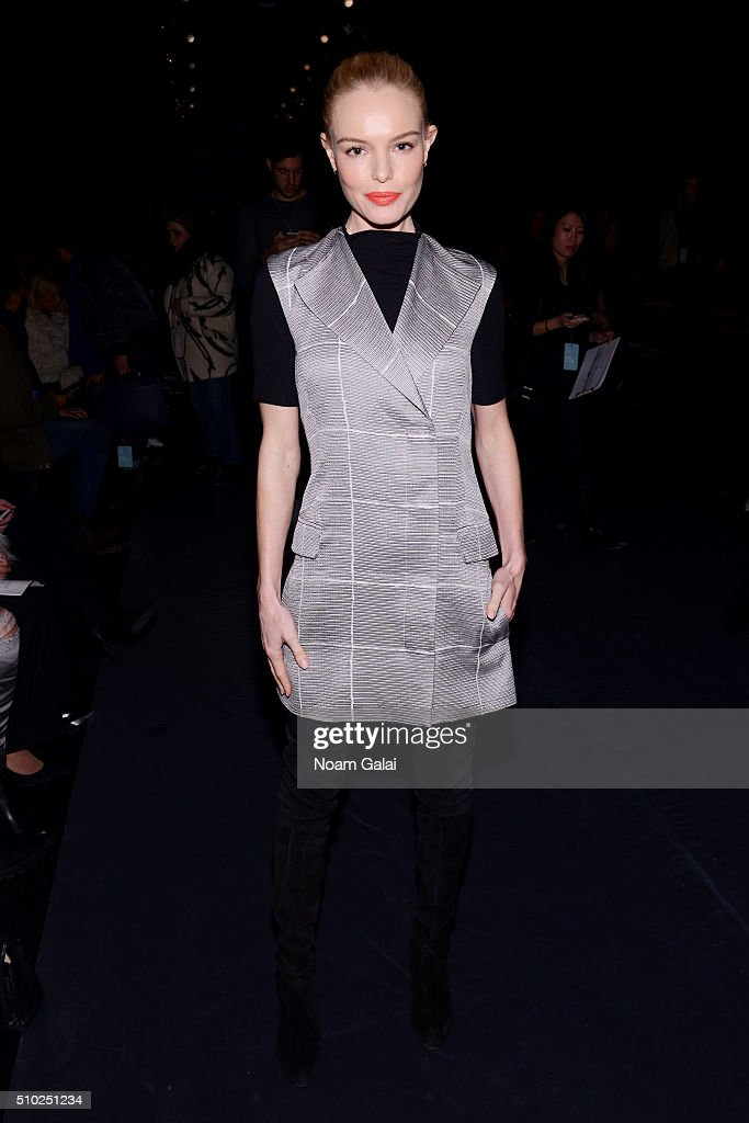 Actress Kate Bosworth attends the Noon By Noor Fall 2016 fashion show during New York Fashion Week: The Shows at The Dock, Skylight at Moynihan Station on February 14, 2016 in New York City.