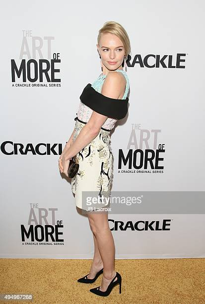 Actress Kate Bosworth attends the premiere of Crackle's 'The Art Of More' at Sony Pictures Studios on October 29 2015 in Culver City California