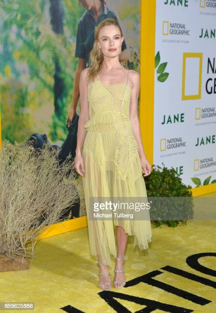 Actress Kate Bosworth attends the premiere of National Geographic Documentary Films' 'Jane' at the Hollywood Bowl on October 9 2017 in Hollywood...