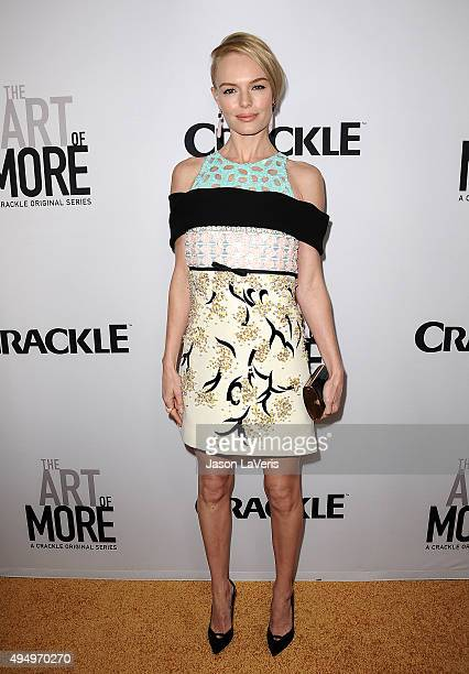 Actress Kate Bosworth attends the premiere of 'The Art of More' at Sony Pictures Studios on October 29 2015 in Culver City California