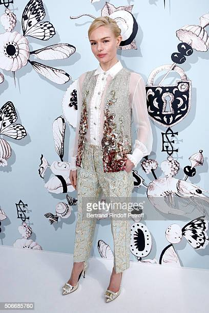Actress Kate Bosworth attends the Schiaparelli Haute Couture Spring Summer 2016 show as part of Paris Fashion Week on January 25 2016 in Paris France