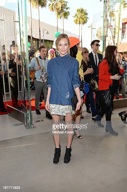 Actress Kate Bosworth attends Topshop Topman LA Grand Opening At The Grove on February 14 2013 in Los Angeles California