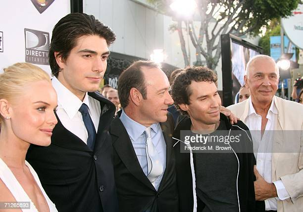 Actress Kate Bosworth Brandon Routh Kevin Spacey Director Bryan Singer and Frank Langella arrives at the Warner Bros premiere of 'Superman Returns'...
