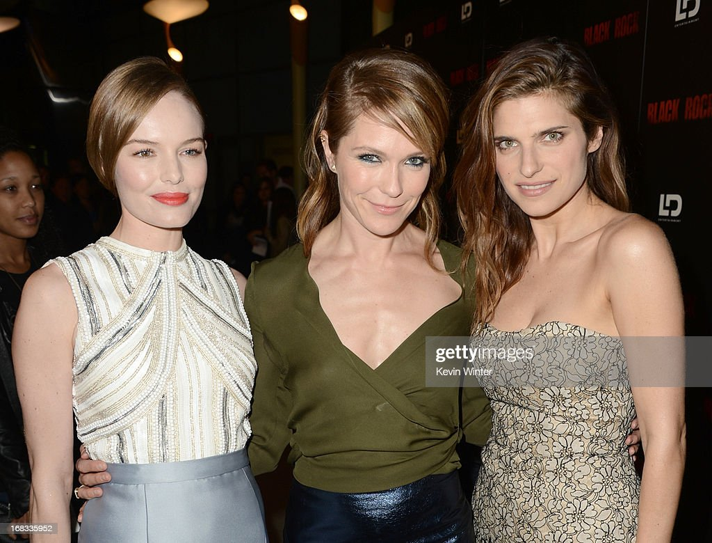 Actress Kate Bosworth, director/producer Katie Aselton, and actress Lake Bell attend the screening of LD Entertainment's 'Black Rock' at ArcLight Hollywood on May 8, 2013 in Hollywood, California.