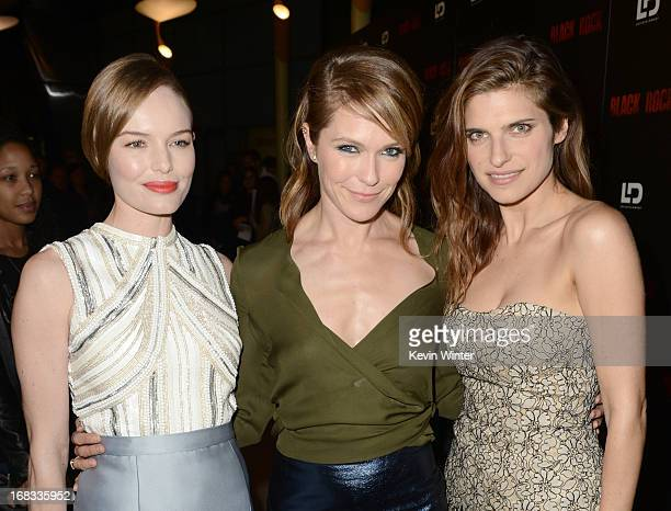 """Actress Kate Bosworth, director/producer Katie Aselton, and actress Lake Bell attend the screening of LD Entertainment's """"Black Rock"""" at ArcLight..."""