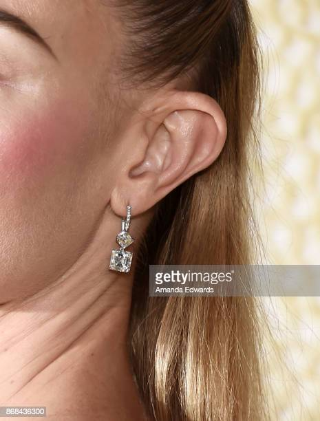Actress Kate Bosworth earring detail arrives at the premiere of National Geographic's 'The Long Road Home' at Royce Hall on October 30 2017 in Los...