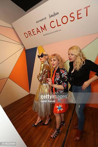 Actress Kate Bosworth Executive Creative Director Piera Gelardi and Amanda de Cadenet attend Refinery29's School of Self Expression opening night...