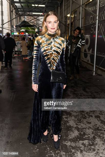 Actress Kate Bosworth is seen arriving to Proenza Schouler SS19 fashion show during New York Fashion Week at 30 Wall Street on September 10 2018 in...