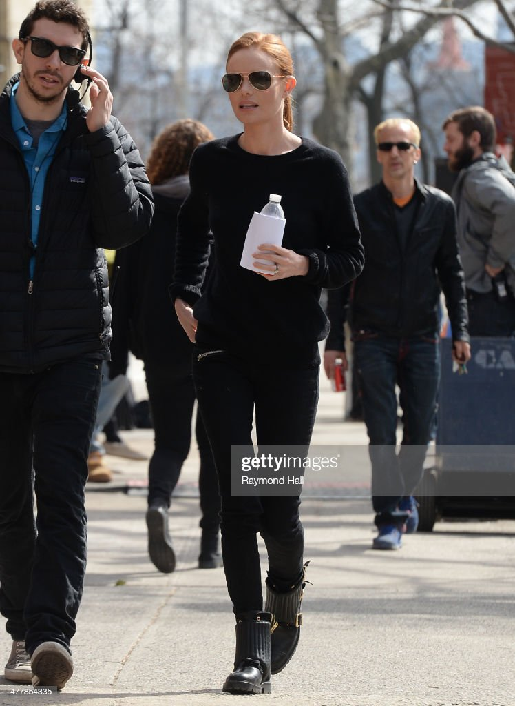 Actress Kate Bosworth is seen on the set of 'Still Alice' on March 11, 2014 in New York City.