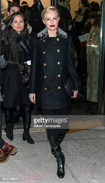 Actress Kate Bosworth is seen outside the Altuzarra Fall 2016 fashion show during New York Fashion Week at Spring Studios on February 13 2016 in New...