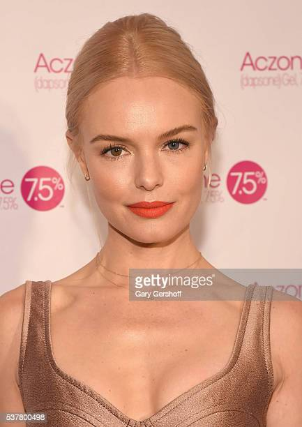 Actress Kate Bosworth partners with Allergan to celebrate the launch of ACZONE Gel 75% at 24th Street Loft on June 3 2016 in New York City