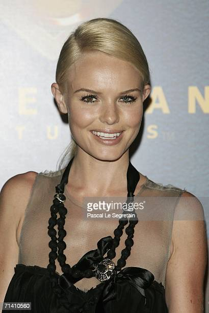 Actress Kate Bosworth poses as she attends the premiere of Bryan Singer's film 'Superman Returns' on July 10 2006 in La Defense outside Paris France