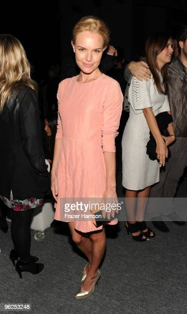 Actress Kate Bosworth poses at Calvin Klein Collection Los Angeles Nomadic Division 1st Annual Celebration For LA Arts Monthly and Art Los Angeles...