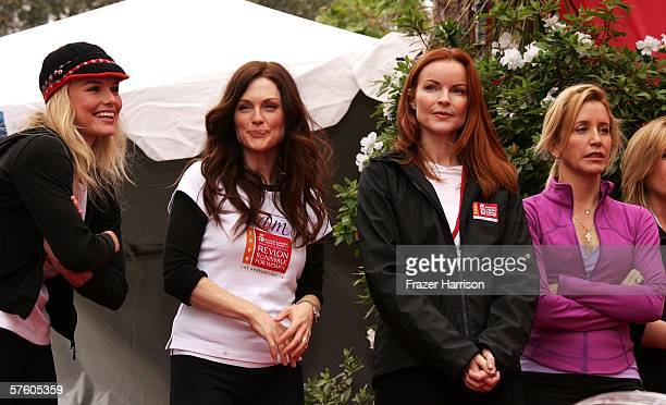 Actress Kate Bosworth Revlon spokesperson Julianne Moore Revlon spokesperson/actress Marcia Crossactress and Felicity Huffman actress at the 13th...