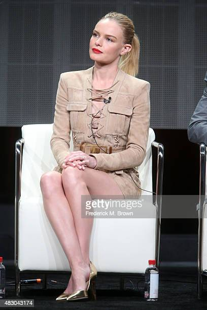 Actress Kate Bosworth speaks onstage during 'The Art of More' panel discussion at the Crackle portion of the 2015 Summer TCA Tour at The Beverly...