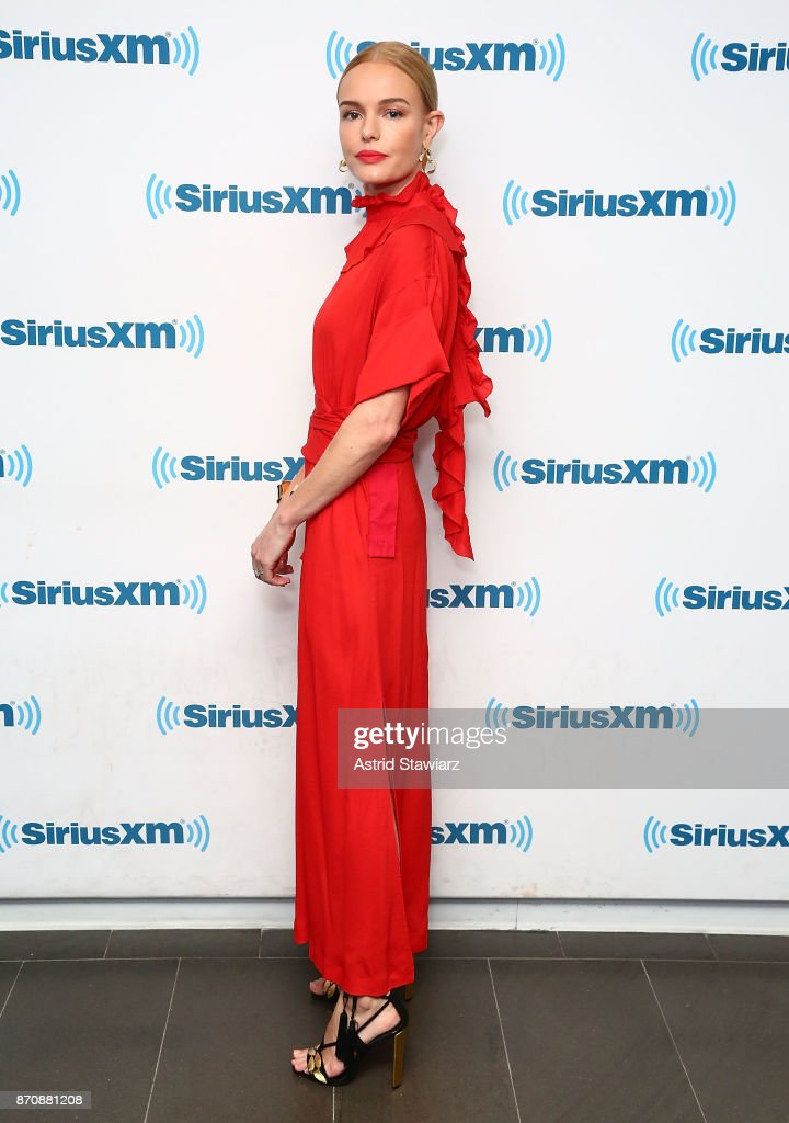 Actress Kate Bosworth visits the SiriusXM studios on November 6, 2017 in New York City.