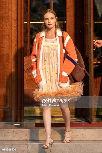 Actress Kate Bosworth walks the runway during Miu Miu 2019 Cruise Collection Show at Hotel Regina on June 30 2018 in Paris France