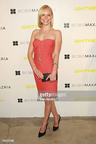 Actress Kate Bosworth wearing Herve Leger attends the fifth Annual Art Party and auction celebrating the Whitney Museum of American Art held at...