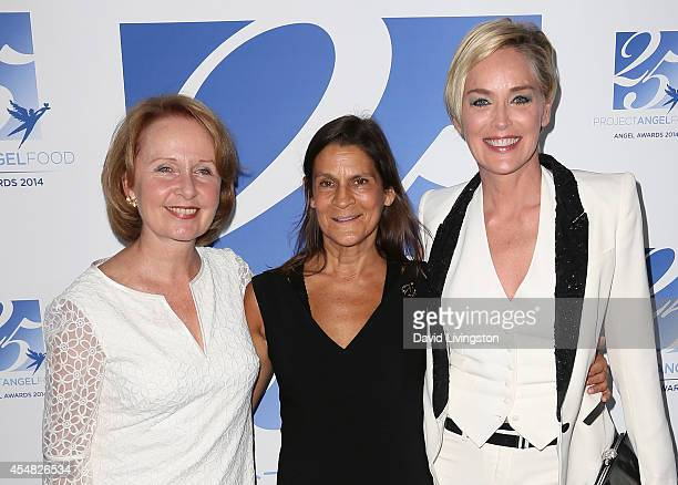 Actress Kate Burton, Aileen Getty and actress Sharon Stone attend the 2014 Angel Awards at Project Angel Food on September 6, 2014 in Los Angeles,...