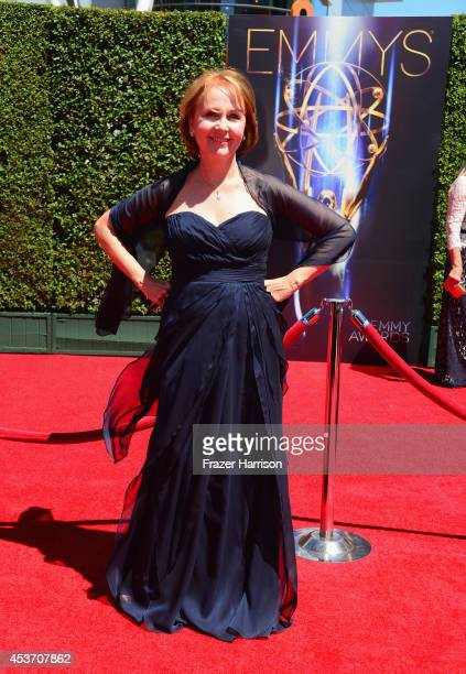 Actress Kate Burton attends the 2014 Creative Arts Emmy Awards at Nokia Theatre LA Live on August 16 2014 in Los Angeles California