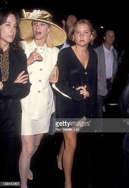 Actress Kate Capshaw and daughter Jessica Capshaw attend the Soapdish Westwood Premiere on May 23 1991 at the Mann National Theatre in Westwood...