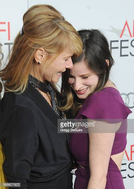 """Actress Kate Capshaw and daughter Sasha Spielbdrg arrive at the """"Lincoln"""" premiere during the 2012 AFI FEST at Grauman's Chinese Theatre on November..."""