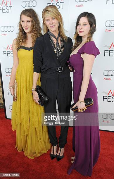 """Actress Kate Capshaw , and daughters Destry Allyn Spielberg and Sasha Spielberg arrive at the """"Lincoln"""" premiere during the 2012 AFI FEST at..."""