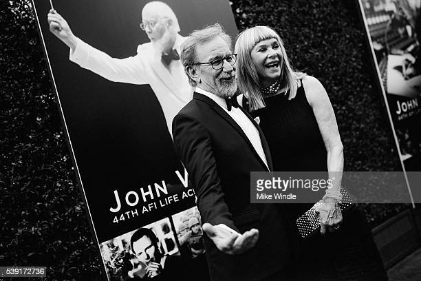 Actress Kate Capshaw and director Steven Spielberg arrive at American Film Institute's 44th Life Achievement Award Gala Tribute to John Williams at...
