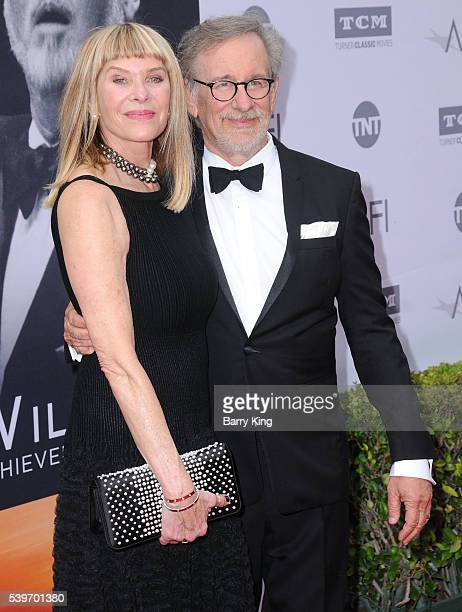 Actress Kate Capshaw and director Steven Spielberg attend American Film Institute's 44th Life Achievement Award Gala Tribute to John Williams at...