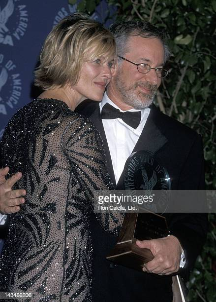 Actress Kate Capshaw and director Steven Spielberg attend the 52nd Annual Directors Guild of America Awards on March 11, 2000 at the Century Plaza...