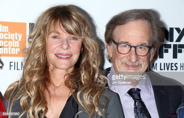 Actress Kate Capshaw and director Steven Spielberg attend the 55th New York Film Festival Spielberg premiere at Alice Tully Hall on October 5 2017 in...