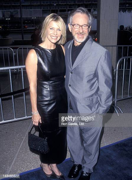 "Actress Kate Capshaw and director Steven Spielberg attend ""The Love Letter"" Century City Premiere on May 13, 1999 at Cineplex Odeon Century Plaza..."
