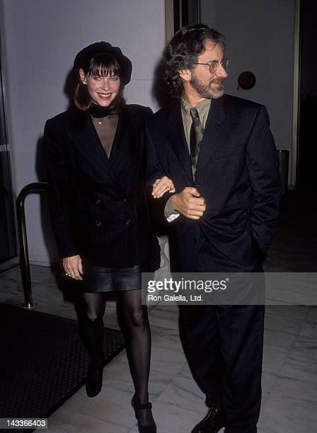 Actress Kate Capshaw and director Steven Spielberg attend the Foundation of the Motion Picture Pioneers' 46th Annual Pioneer of the Year Award Salute...