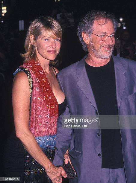 "Actress Kate Capshaw and director Steven Spielberg attend the ""Road to Perdition"" New York City Premiere on July 9, 2002 at the Ziegfeld Theatre in..."