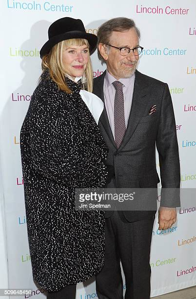 Actress Kate Capshaw and director/producer Steven Spielberg attend the 2016 American Songbook Gala at Alice Tully Hall, Lincoln Center on February...