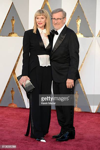 Actress Kate Capshaw and filmmaker Steven Spielberg attend the 88th Annual Academy Awards at Hollywood Highland Center on February 28 2016 in...