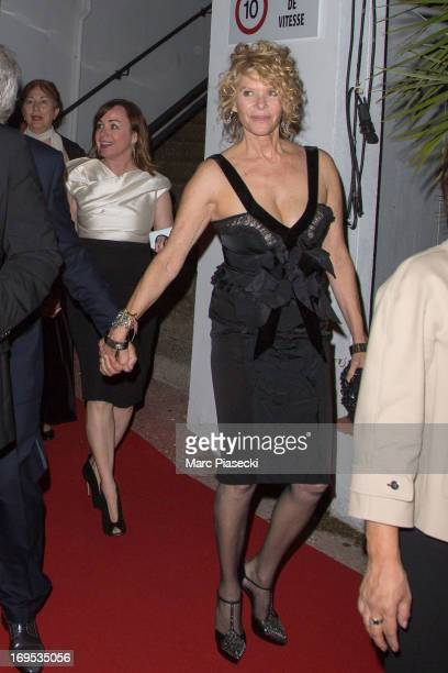 Actress Kate Capshaw and guest arrive at the 'Agora' dinner during the 66th Annual Cannes Film Festival on May 26 2013 in Cannes France