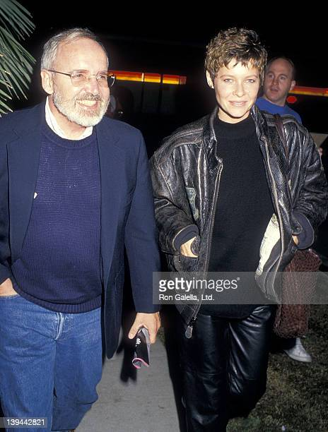 Actress Kate Capshaw and guest attend the Cross My Heart Beverly Hills Premiere on November 9 1987 at the Samuel Goldwyn Theatre in Beverly Hills...