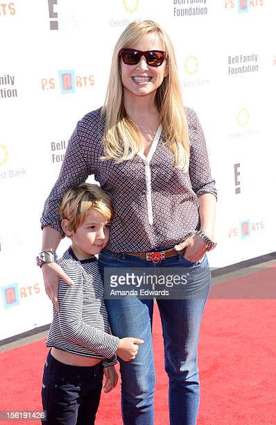 Actress Kate Capshaw and her son Luke Hudson Gavigan arrive at the 14th Anniversary of the PS Arts Express Yourself Gala at Barker Hangar on November...