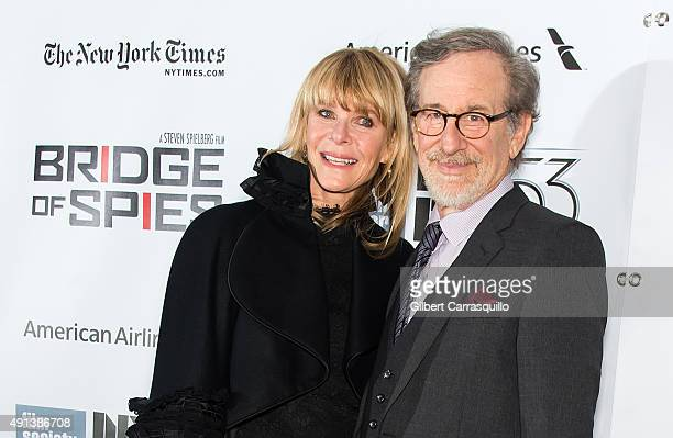 Actress Kate Capshaw and husband director Steven Spielberg attend the 53rd New York Film Festival - 'Bridge Of Spies' at Alice Tully Hall, Lincoln...