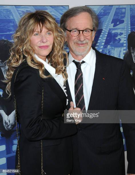 Actress Kate Capshaw and husband director Steven Spielberg attend the premiere of HBO's 'Spielberg' at Paramount Studios on September 26 2017 in...