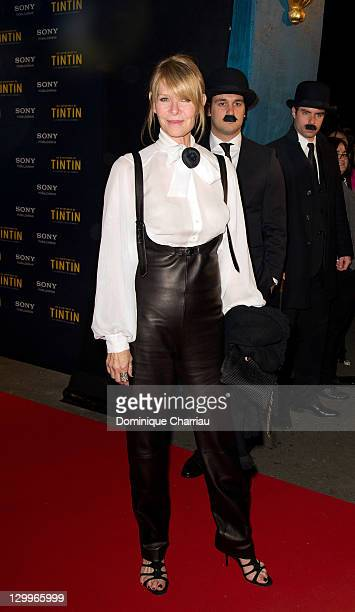 Actress Kate Capshaw attends the 'TINTIN The Secret Of The Unicorn' World Premiere at Le Grand Rex on October 22 2011 in Paris France