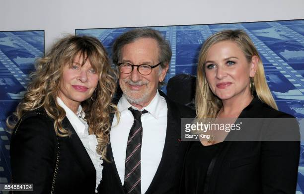 Actress Kate Capshaw director Steven Spielberg and actress Jessica Capshaw attend the premiere of HBO's 'Spielberg' at Paramount Studios on September...