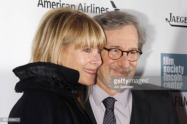Actress Kate Capshaw director/producer Steven Spielberg attend the 53rd New York Film Festival premiere of Bridge Of Spies at Alice Tully Hall...