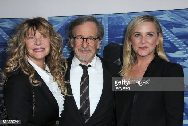 Actress Kate Capshaw, husband director Steven Spielberg and daughter actress Jessica Capshaw attend the premiere of HBO's 'Spielberg' at Paramount...